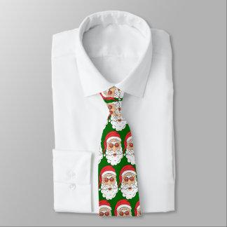 Santa With Sun Glasses Tie
