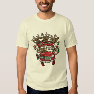 Santa Woody and His Reindeer Christmas Cartoon T-shirts