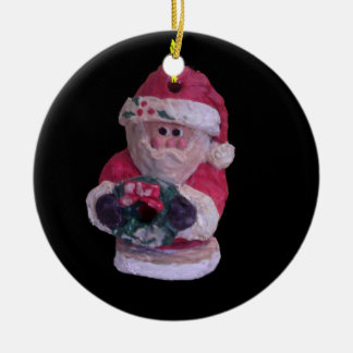 """SANTA WREATH COLLECTIBLE ORNAMENT"""