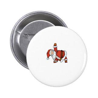Santa Yoga - Christmas Design with a Yoga Santa 6 Cm Round Badge