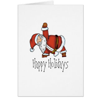 Santa Yoga - Christmas Design with a Yoga Santa Card