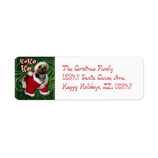 Santa Yorkie Address Label