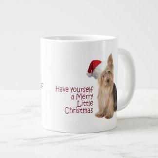 Santa Yorkie Jumbo Christmas Mug Jumbo Mug