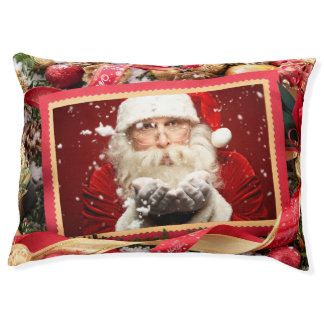 Santa / YOUR PHOTO custom Christmas dog beds