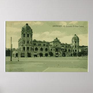 Santander . Ei Sardinero. Ei Gran Casino, Vintage Posters