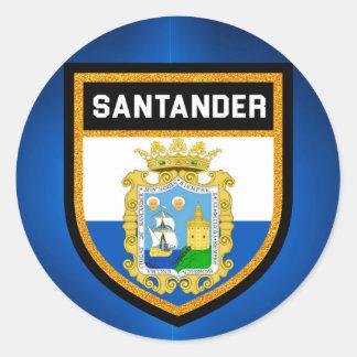 Santander Flag Round Sticker