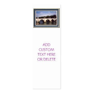 Sant'Angelo Bridge in Rome, Italy Business Card Template