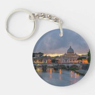 Sant'Angelo bridge Saint Peter Basilica Rome Italy Keychain