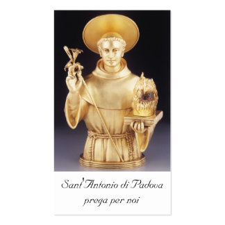 Sant'Antonio santino - st Anthony holy card Business Card Templates