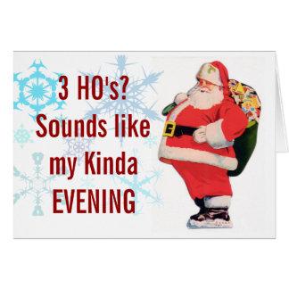 Santas 3 Ho s Christmas Card