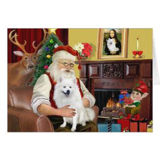 Santa's American Eskimo Dog Card