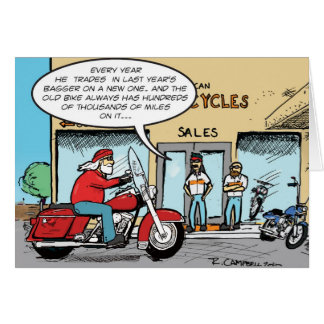 Santa's annual bike trade-in card
