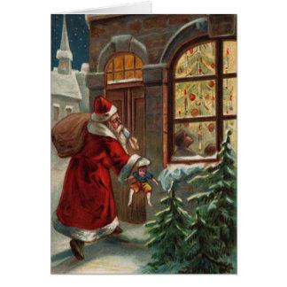Santa's at the Door Note Card