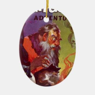 Santa's Bad Cats Ceramic Ornament