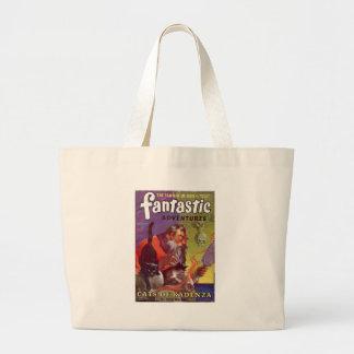 Santa's Bad Cats Large Tote Bag