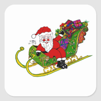 Santa's Booties and Boots Design on Stickers