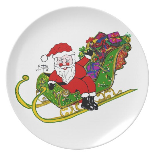 Santa's Boots and Booties on Dinner/Party Plate
