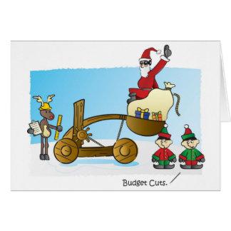Santa's Budget Cuts Greeting Card