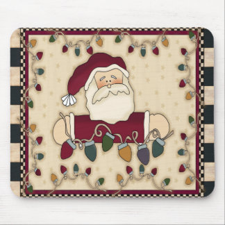 Santas Christmas Light Bulbs Mousepad