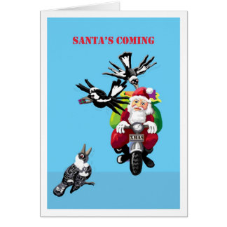 Santa's coming - Australian Christmas card