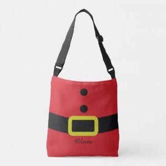 Santa's Costume Custom Name Crossbody Bag