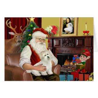Santa's Coton de Tulear (#5) Card
