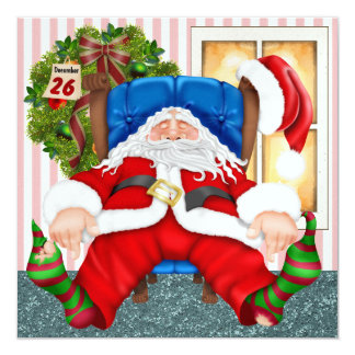 Santa's Day Off - SRF 13 Cm X 13 Cm Square Invitation Card