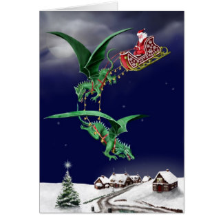 Santas Dragon Sleigh Card