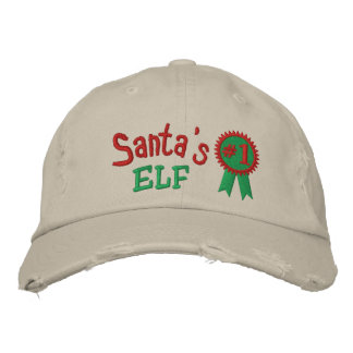 Santa's Elf Embroidered Hat