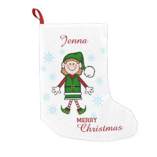 Santa's Elf (Girl) Small Christmas Stocking