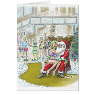 Santas Elf Helps Out Big! Christmas Card