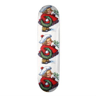 Santas Elf with Wreath Skate Deck