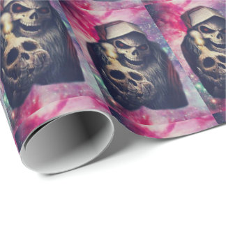 Santa's Evil Twin Lost in Space Wrapping Paper