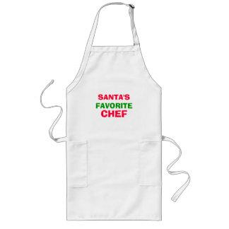 santa's favorite chef long apron
