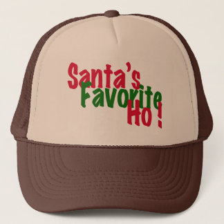 santa's favorite ho funny christmas hat design