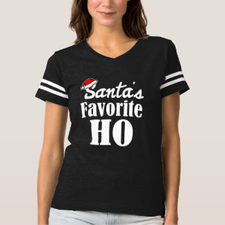 Santa's Favorite Ho Funny Christmas saying women's T-Shirt