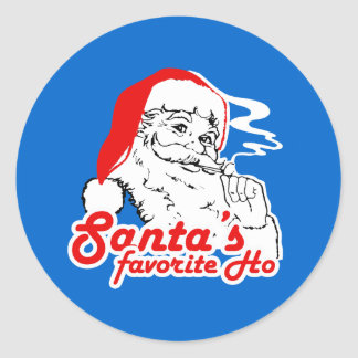 SANTA'S FAVORITE HO ROUND STICKER