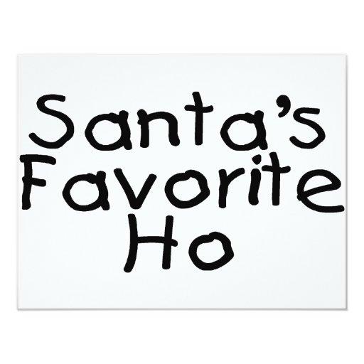 Santas Favourite Ho 11 Cm X 14 Cm Invitation Card