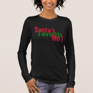 santa's favourite ho funny christmas shirt design