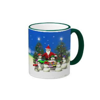 Santas First Stop on Christmas Ringer Coffee Mug