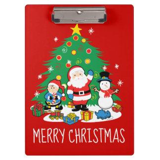 Santa's friends clipboard