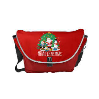 Santa's friends messenger bag