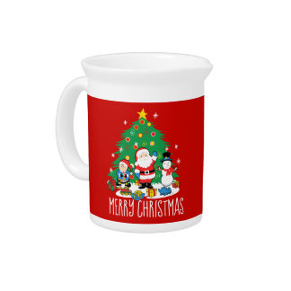 Santa's friends pitcher