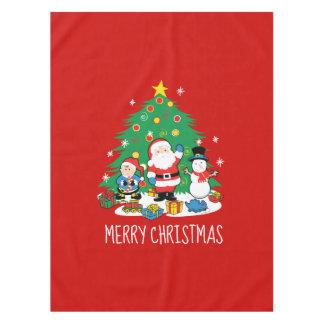 Santa's friends tablecloth
