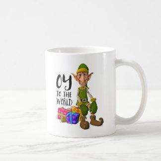 Santa's Funny Elf Christmas Coffee Mug