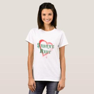 Santa's Gift Baby, Sweetheart Heart T-Shirt