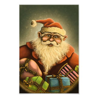 santa's gifts holiday photo print