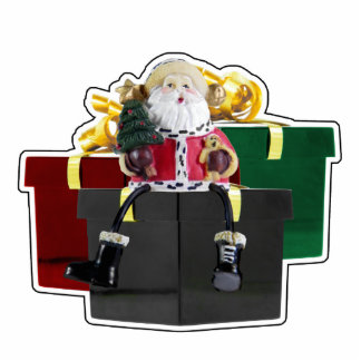 Santa's Gifts Magnet Sculpture Acrylic Cut Out