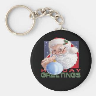 Santa's Greetings - Keychain
