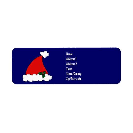 Santa's hat return address label
